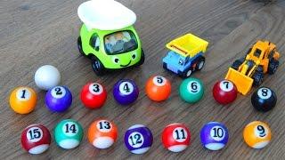 Мультик про машинки Кольорові кульки цифри Місто машинок 106 серія Мультфільми українською для дітей