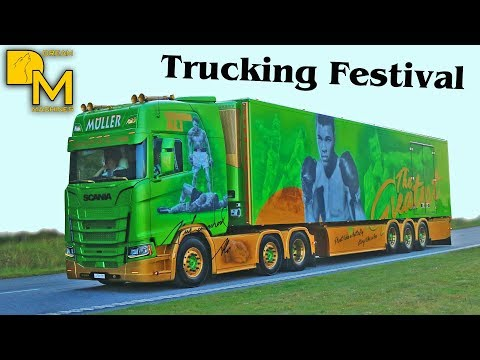 TRUCK PARADE TRUCKING FESTIVAL NORDIC TROPHY 2017 LOUD PIPE V8 SOUND
