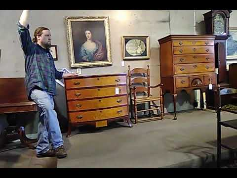 Hap Moore auctions a Portsmouth chest in York Maine