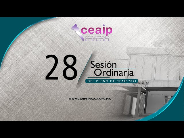 Sesión Ordinaria de Pleno No. 28/2021