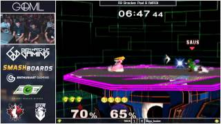 GOML 2015 - SAUS (Link) vs Kalamazhu (Peach) - SSBM R2 Pools