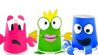 ГЕРОИ В МАСКАХ спрятались в стаканчики. Открываем сюрпризы. Учим цвета.Развивающий мультик для детей