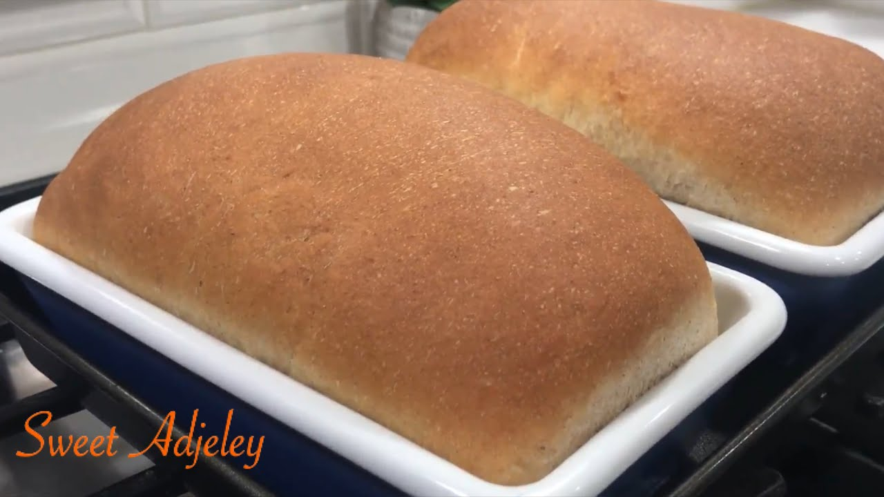 Easy Simple Soft & Fluffy Whole Wheat Bread Recipe Ready In Under Two Hours | Homemade Brown Bread