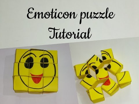 NO GLUE EMOTICON PUZZLE TUTORIAL || Supervising shell || Emoji crafts