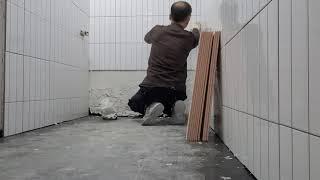화장실 벽본드 시공 압착바닥시공