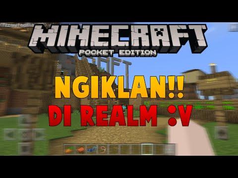 Langsung Ngiklan Di Realm!! - Minecraft PE (Pocket Edition) Indonesia