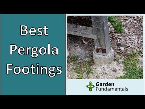 Pergola & arbor footings: Best Options Compared