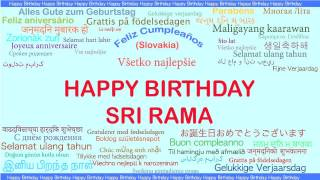 SriRama   Languages Idiomas - Happy Birthday