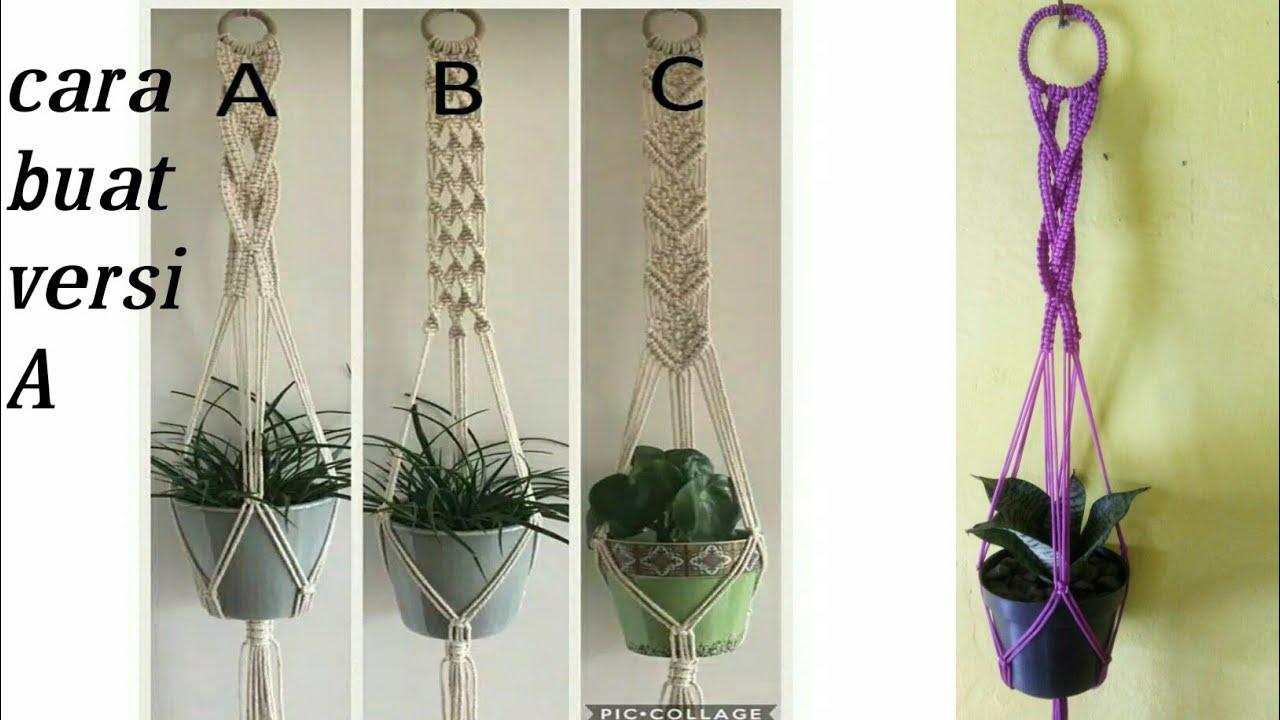 Cara Membuat Gantungan Pot Dari Tali Kur Youtube Cara membuat tali pot gantung