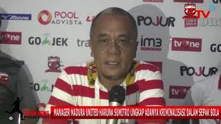 Haruna Sumitro Ungkap Adanya Kriminalisasi Sepak Bola