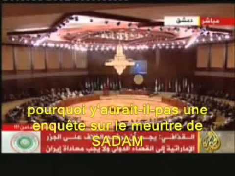 Khadaffi prédit sa mort !!! et la mort d'autres dirigeants arabes par les américains