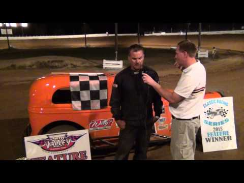 Steve Cantwell in victory lane at Path Valley Speedway 8-15-15