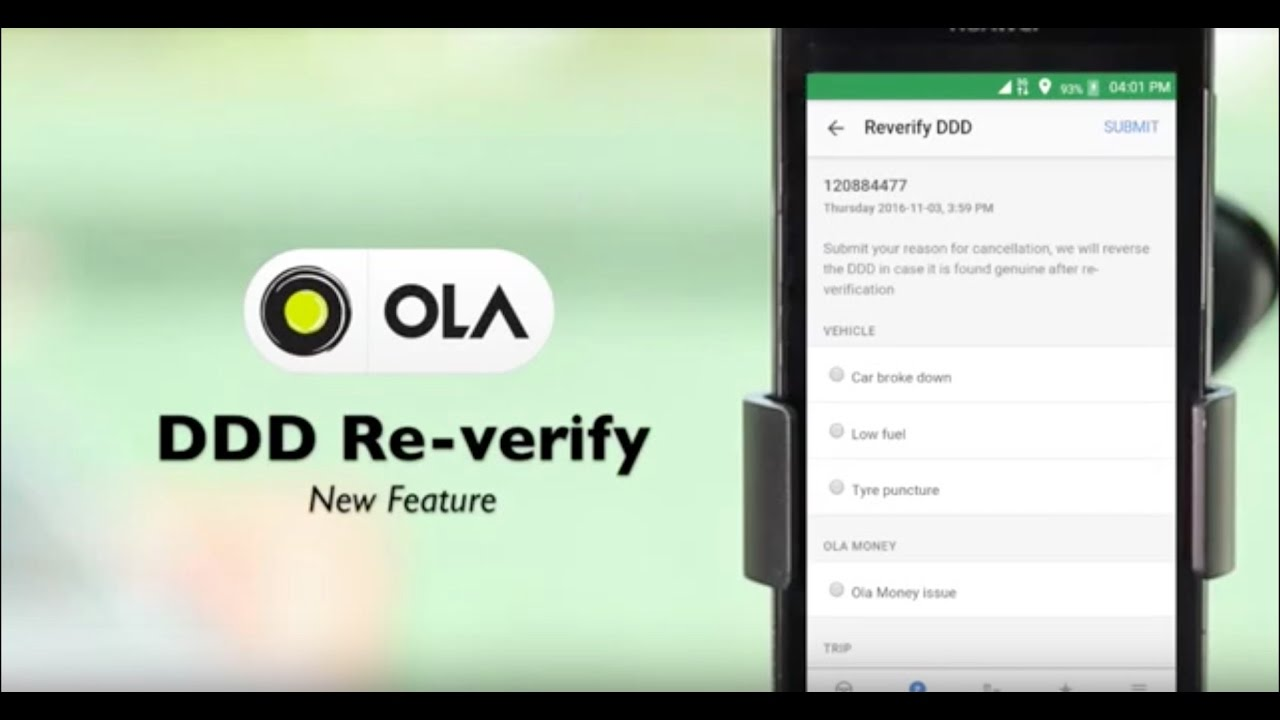 How to use Driver Denied Duty in ola driver app
