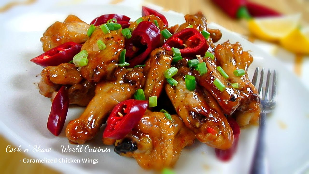 Caramelized Chicken Wings - YouTube