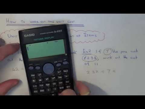 How To Calculate The Unit Cost (the cost of 1 item)