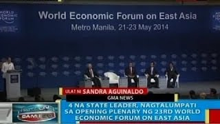 4 na state leader, nagtalumpati sa opening plenary ng 23rd World Economic Forum on East Asia