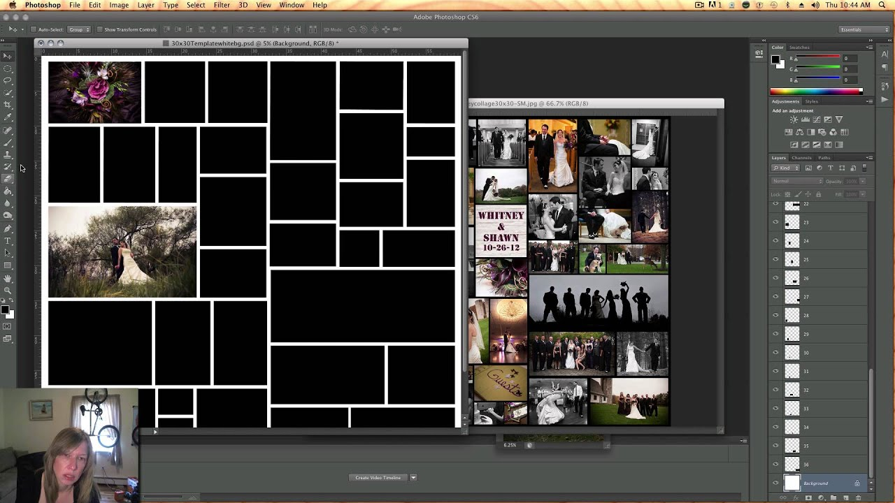 Designing A Photo Collage Album Cover Template Youtube