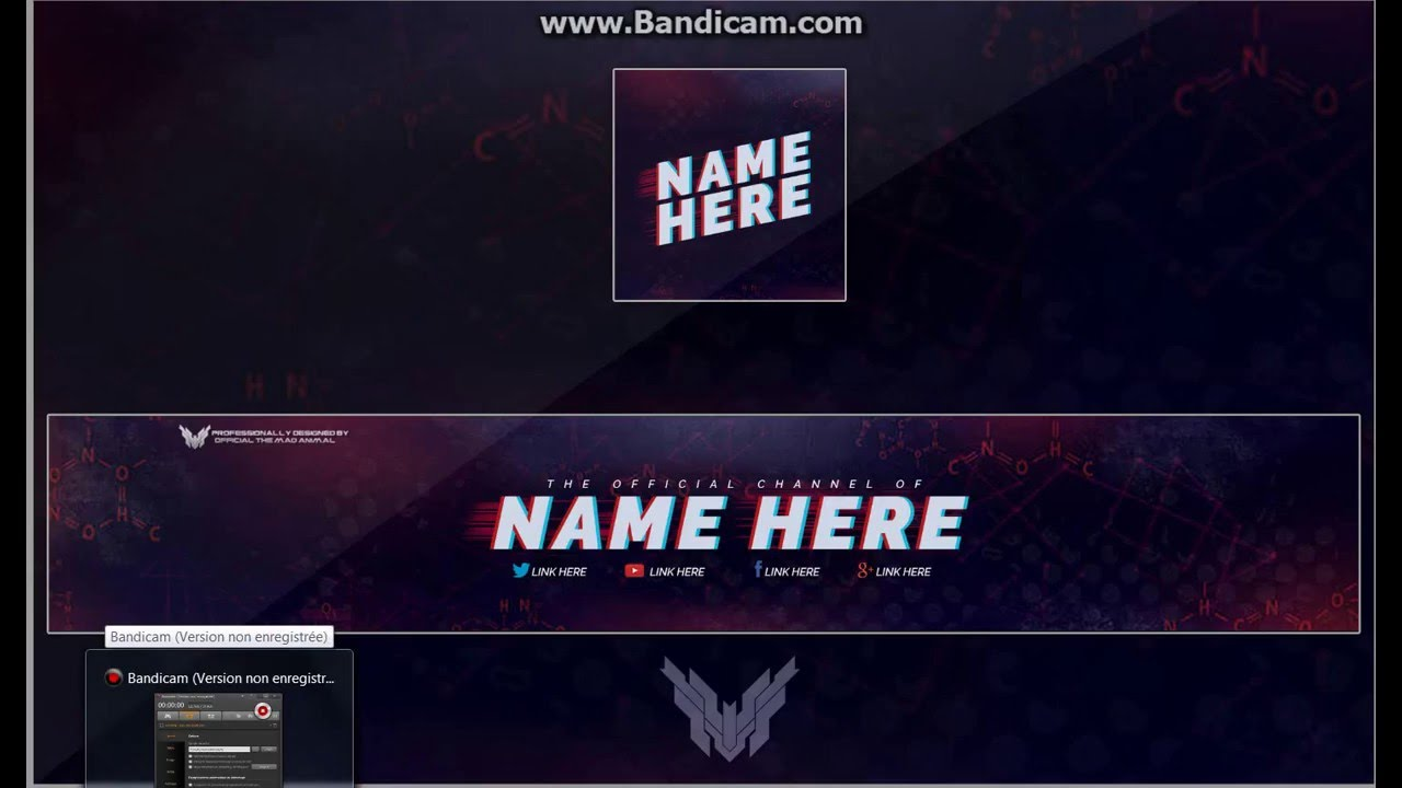 Logo et Bannière Template Photoshop cs6 - YouTube