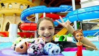 Видео для девочек - Монстер Хай Клодин и хомяки в аквапарке