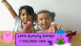 CARA MEMBUAT LAVA GUNUNG BERAPI ~ VOLCANO LAVA || Eksperimen Anak | English Subtitles