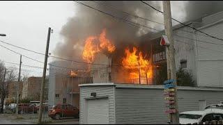 Un incendie d'une rare intensité dans Limoilou