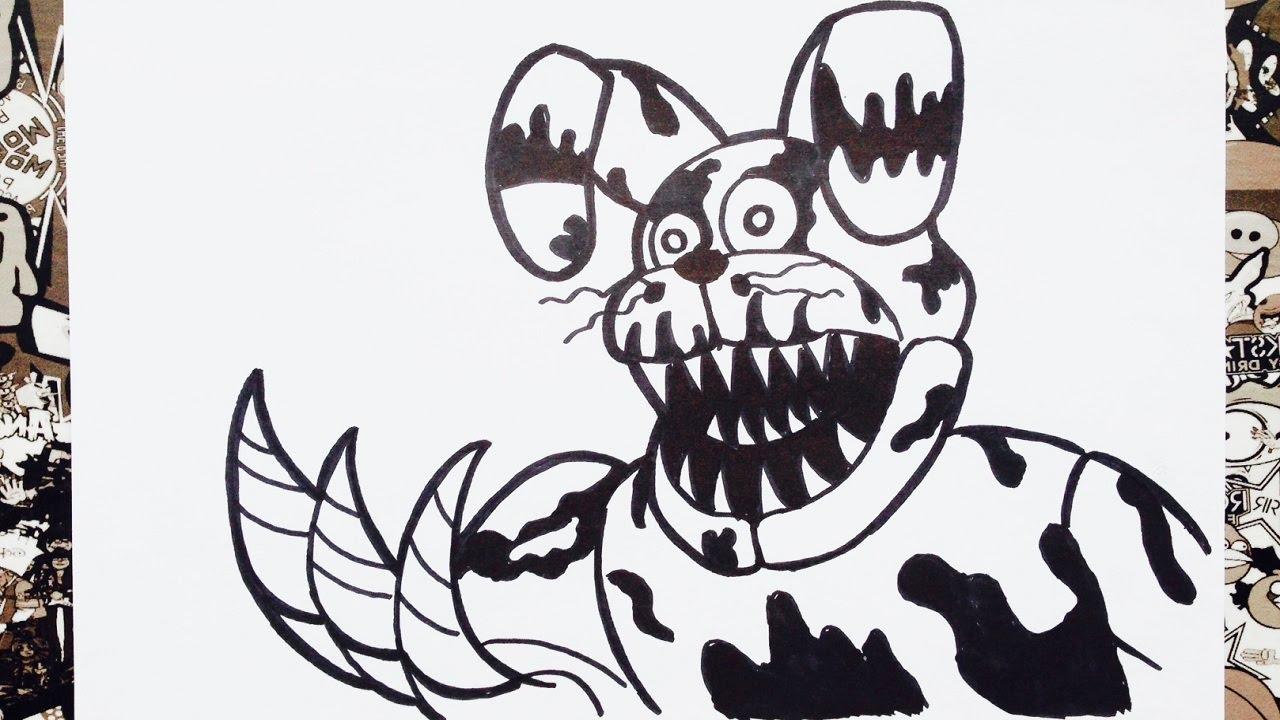 Como dibujar a nightmare bonnie de five nights at freddy's