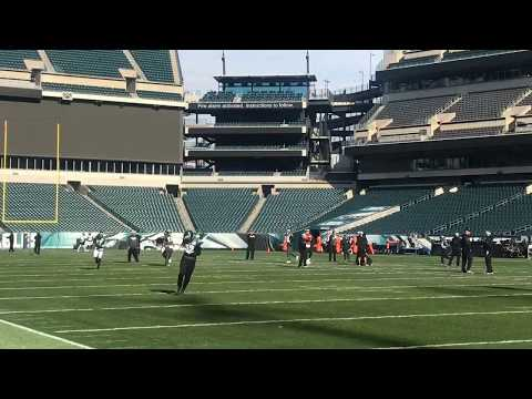 Eagles' final practice before NFC Championship