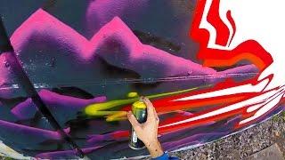 Graffiti - Rake43 - Outline Colour Series  #madridred