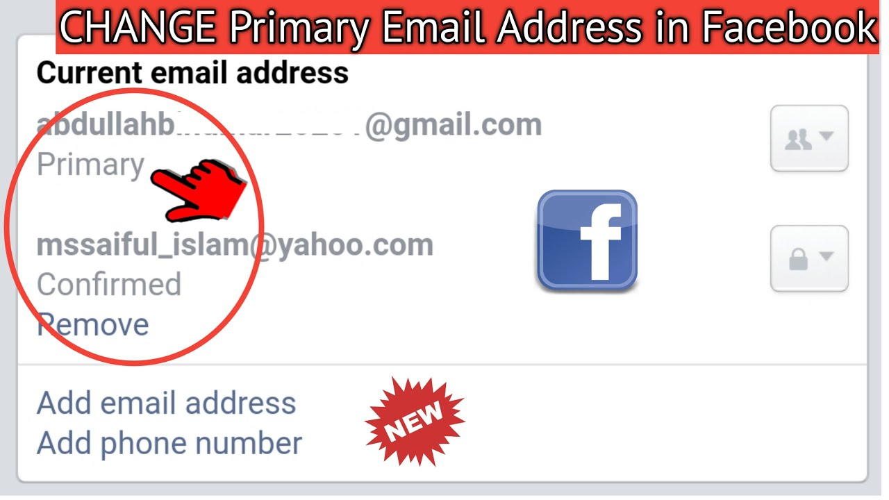 How to Change Primary Email Address in Facebook Account