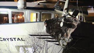 Duisburg: Hotelschiff rammt Brückenpfeiler auf dem Rhein