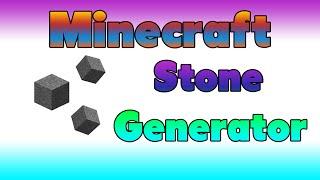Minecraft easy STONE Geneŗator 1.8 Tutorial [HD]
