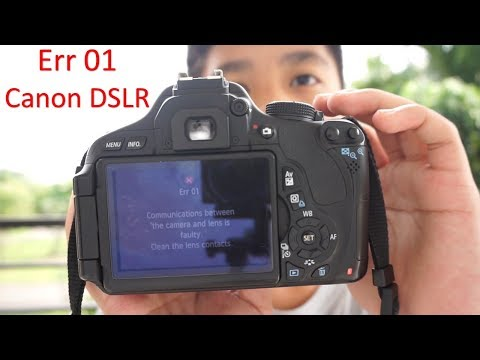 Canon DSLR Error 01 Free and Easy FIX | Works for ALL Canon DSLR