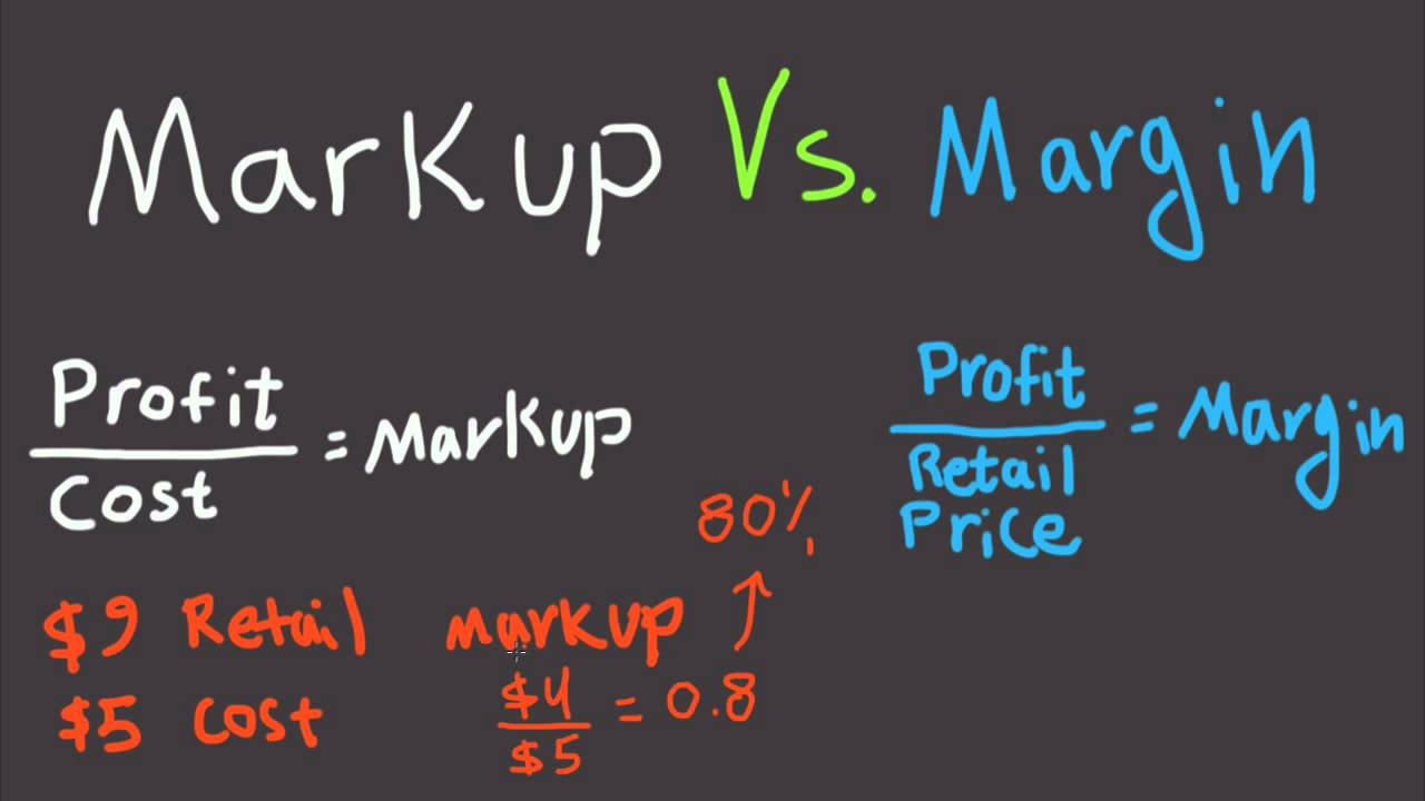 markup vs. margin explained for beginners - difference between