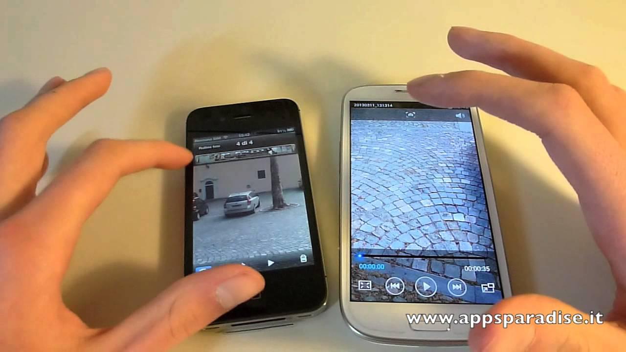 Confronto Samsung Galaxy S3 vs iPhone 4S ita by ...