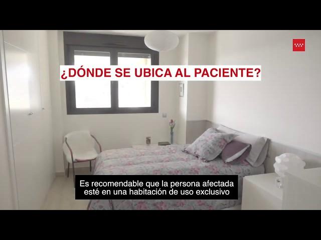 Recomendaciones domiciliarias para pacientes con coronavirus en casa.