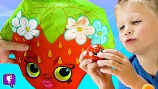 SHOPKINS SURPRISE TOYS + Color Foam and Helmet Painting with HobbyKidsTV
