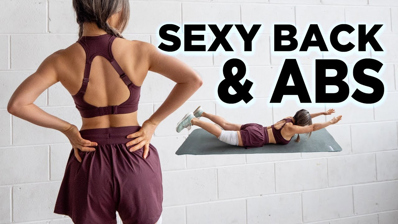 Sexy Back & Abs Workout | 10 Mins (No Equipment)