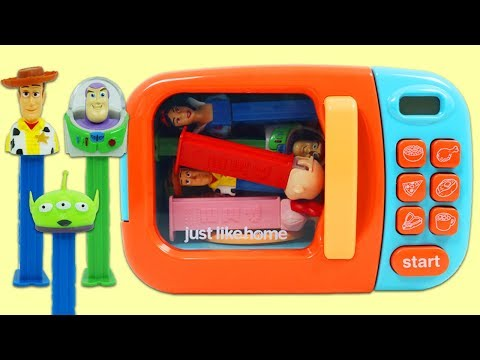 Magic Microwave Toy Surprises with Disney Pez Dispenser from Toy Story, Paw Patrol, & More!