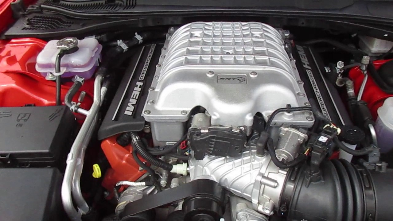2016 Orange Dodge Challenger Hellcat Engine  YouTube