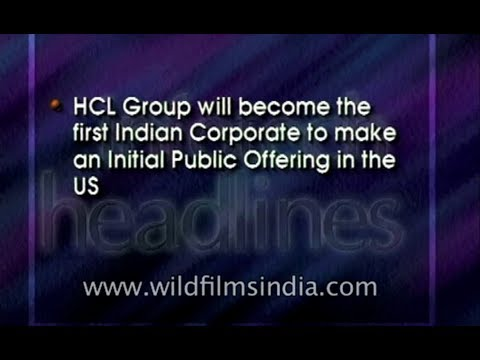 HCL group will become first Indian corporate to make an IPO in US - archival footage
