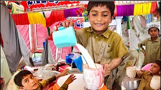 Small Boy Selling Ghota Sharbat  Manages Everything Hard working