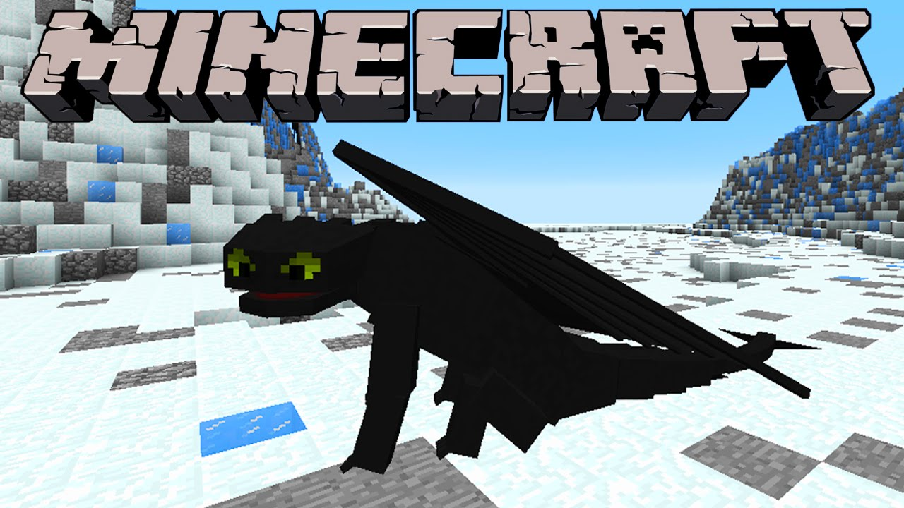 Minecraft HOW TO TRAIN YOUR DRAGON TOOTHLESS MOD Night Fury - Minecraft spiele mods