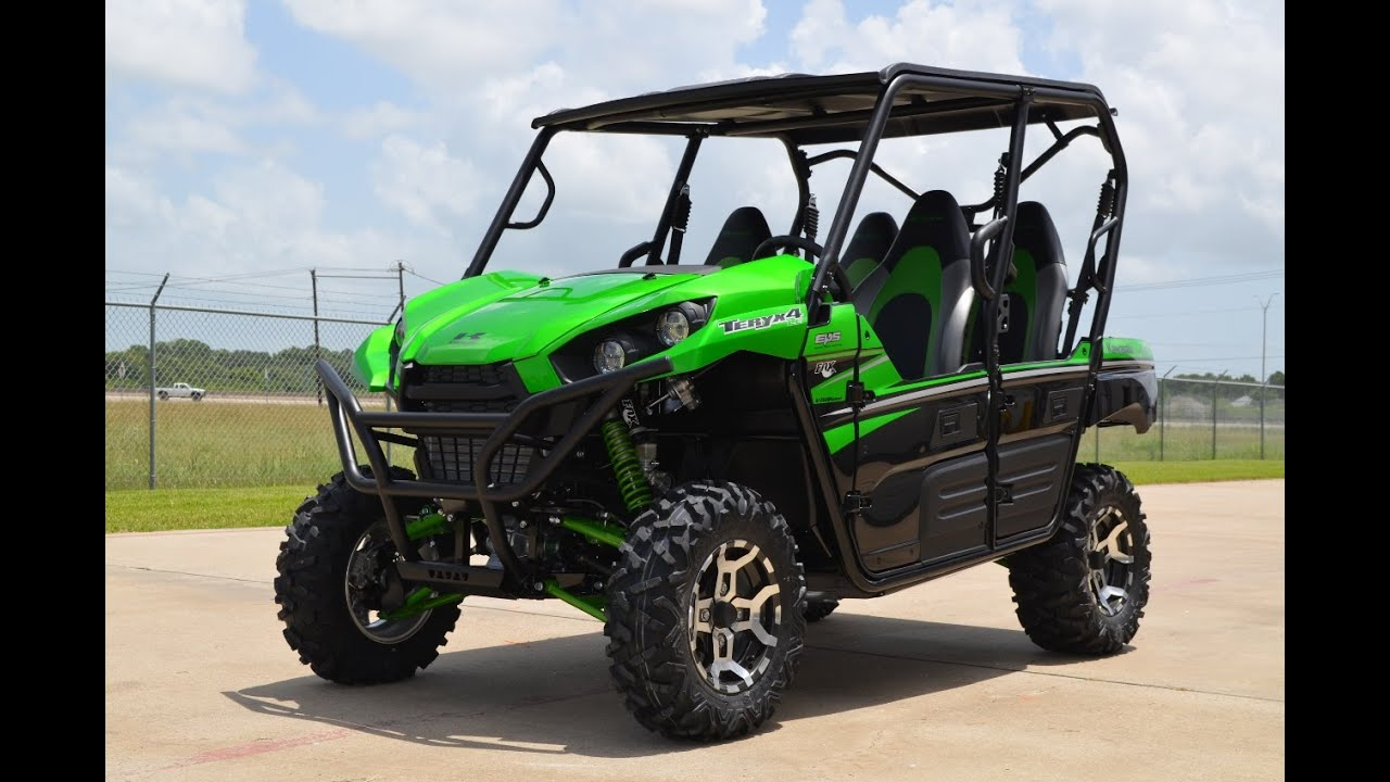 $16,999: 2016 kawasaki teryx4 le candy lime green overview and