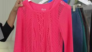 Denim & Co. Novelty Cable Sweater with Knit Tank with Gabrielle Kerr