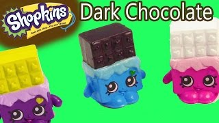 Custom Shopkins Rare DARK CHOCOLATE Cheeky DIY Painted Craft Toy thumbnail