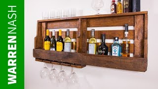 Make a Pallet Wine Rack with Glass Holder in a Day - Easy DIY by Warren Nash