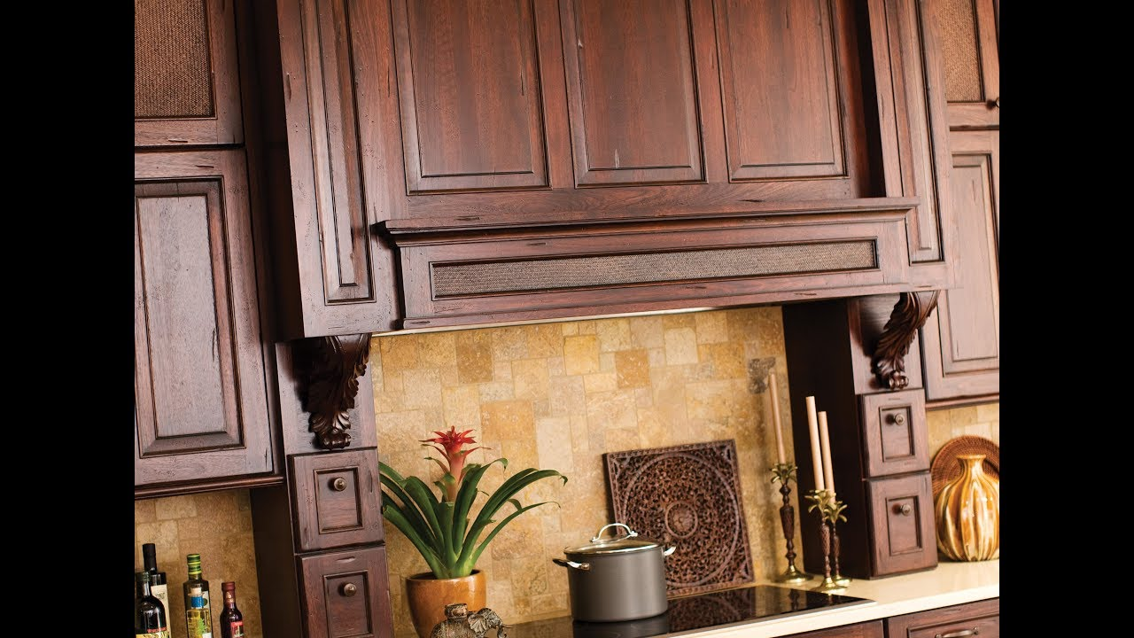 Dramatic Wood Hoods From Dura Supreme Cabinetry