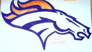 How to Draw Denver Broncos logo