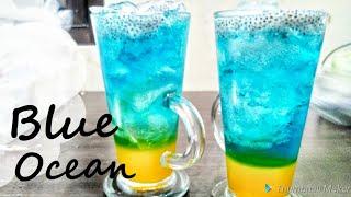 Blue Ocean Drink minuman ala cafe ala Resto | Bisa berubah warna | Segar Murah dan Nikmat
