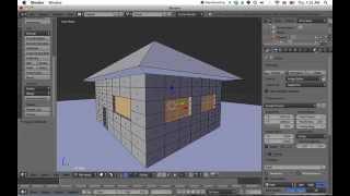 Making A Simple House In Blender 2.71 (beginner Tutorial)